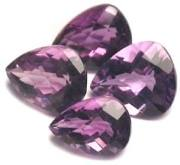 checkerboard loose Amethyst gemstones