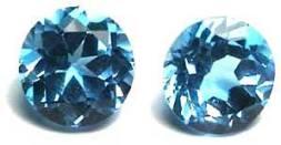 round Blue Topaz