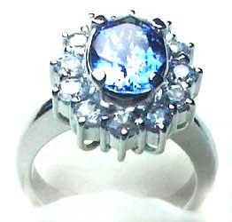 Diamond Blue Sapphire ring