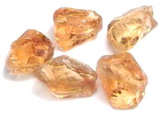 raw or rough Citrine gemstones