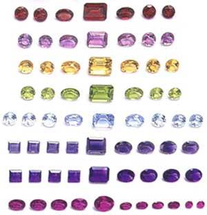 Colored Cut Gem Stones
